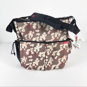 Skip Hop Duo Deluxe Cherry Bloom Diaper Bag